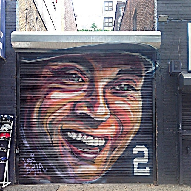 Best celebrity murals nyc street art pictures for Celebrity mural