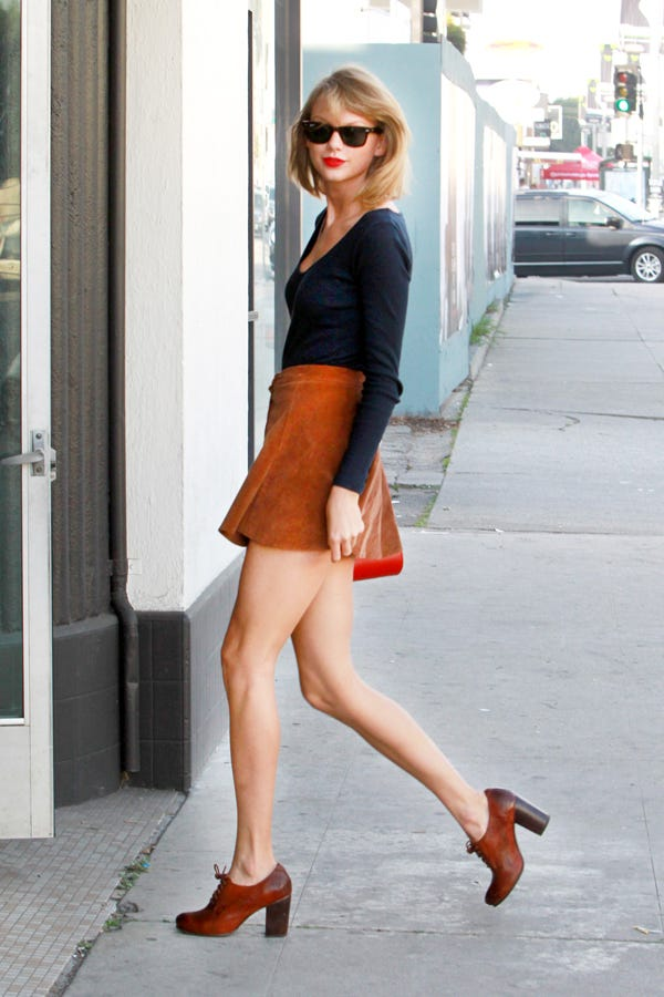Taylor Swift Corduroy Skirt Outfit