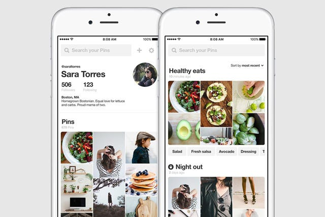 Pinterest app profile updates - Pinterest mobel ...