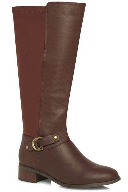 the knee boots for wide calves
