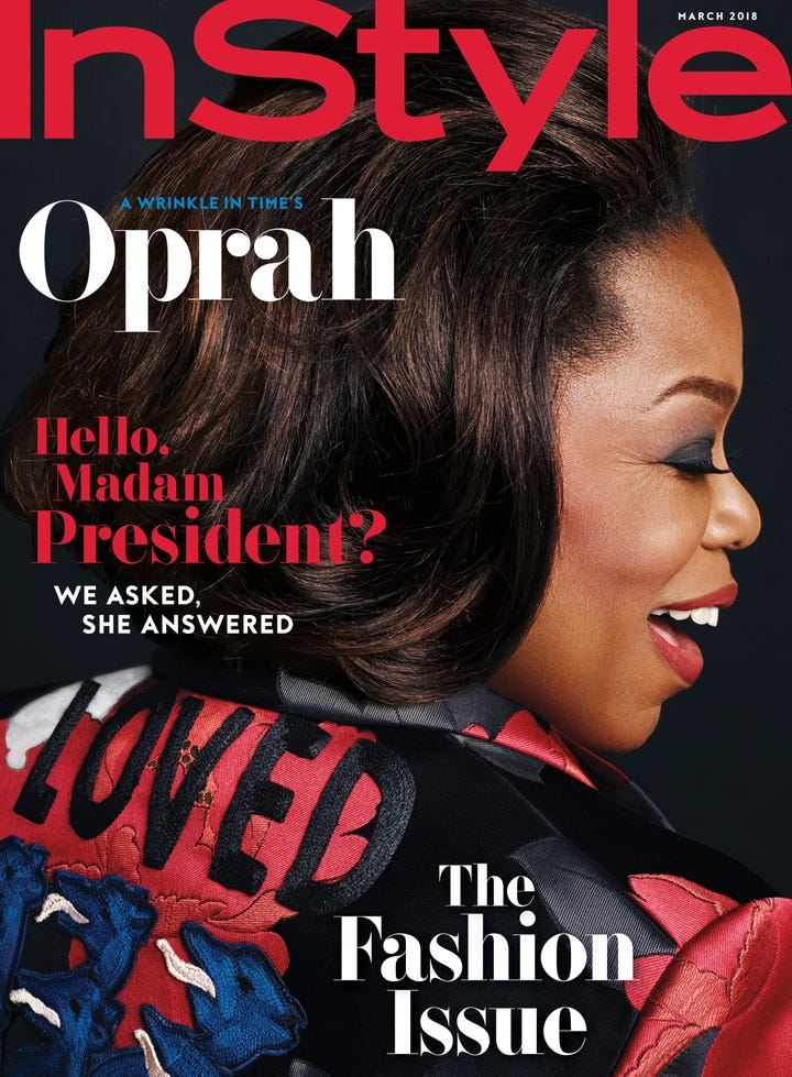 oprah winfrey instyle magazine march 2018. Black Bedroom Furniture Sets. Home Design Ideas
