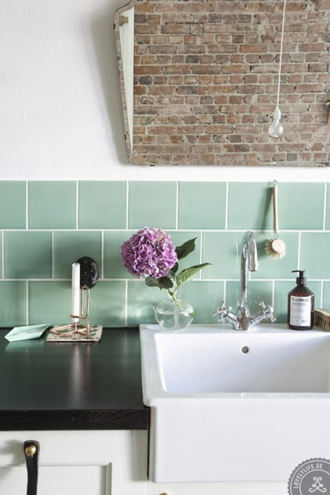 Mint Green Kitchen Backsplash Tiles