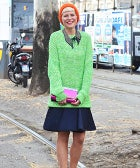 This Ladylike Approach To Lime Green Is All About Proportion