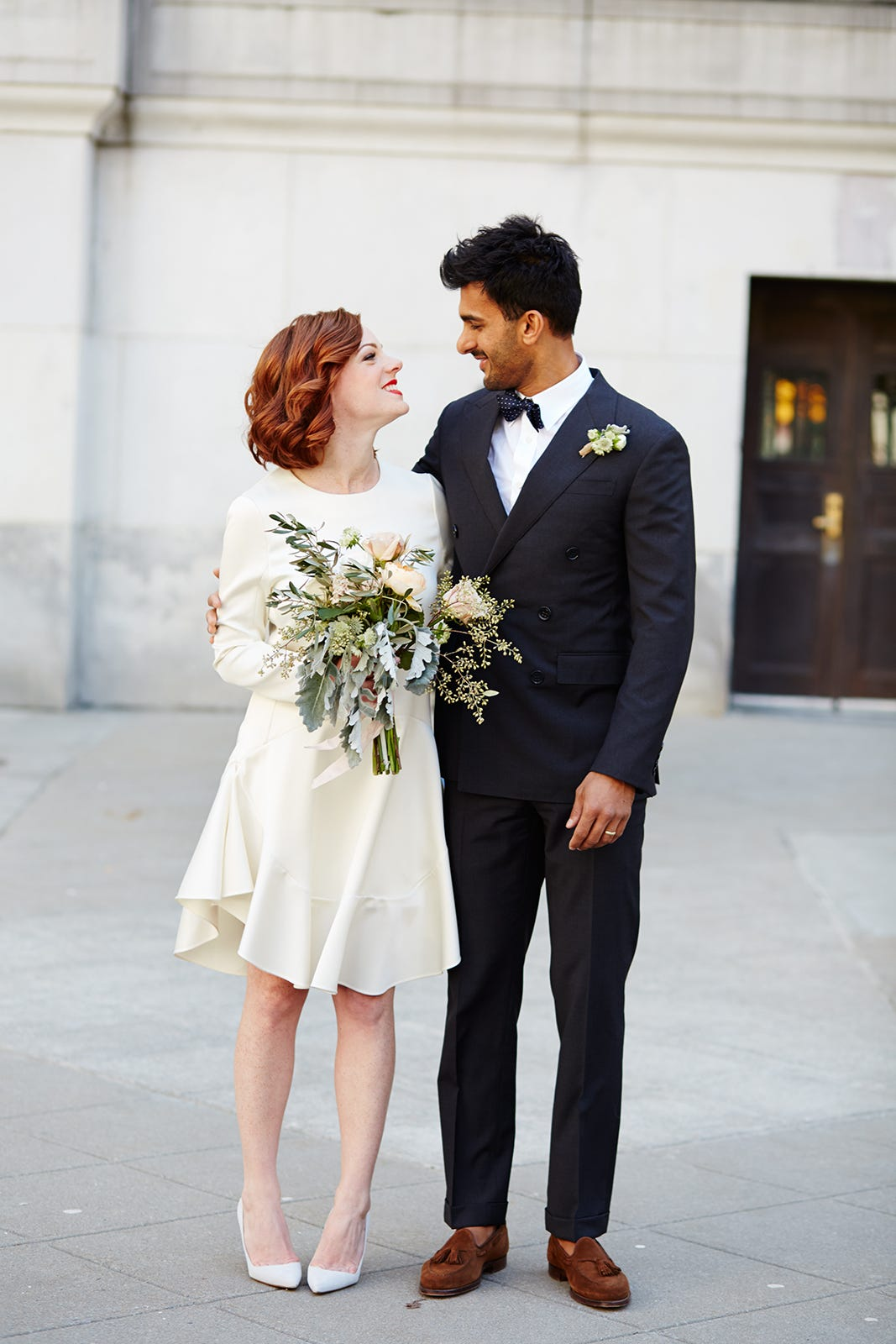 spring city hall wedding pictures in nyc With city hall wedding dresses