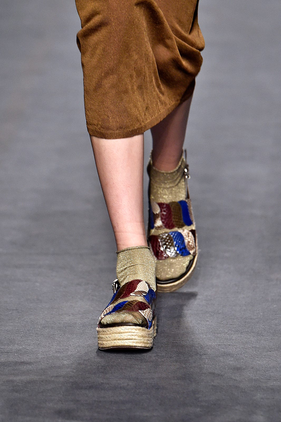 Antonio Marras Gold Sparkle Socks Mfw Fashion Show