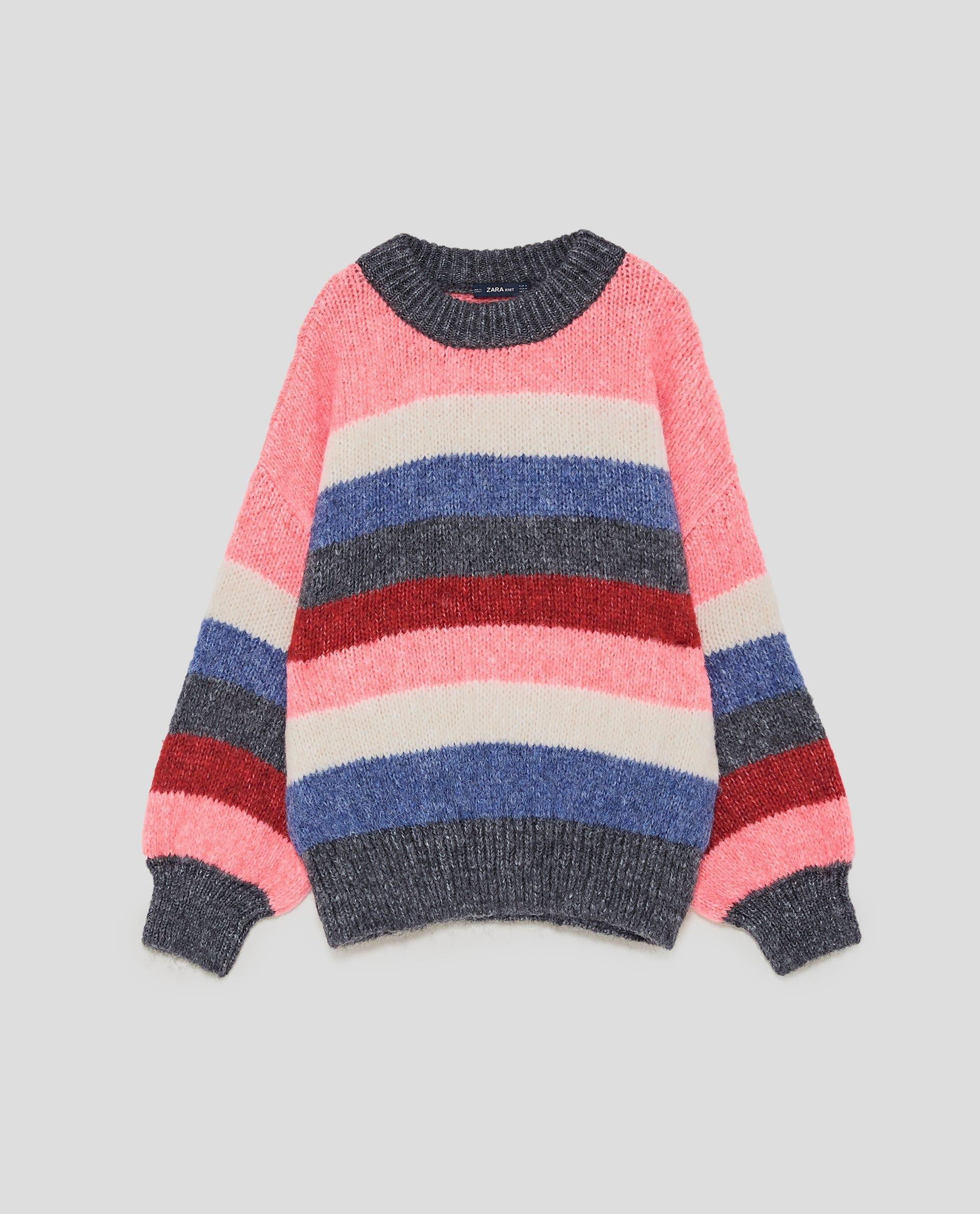 Zara + Multicolored Striped Sweater