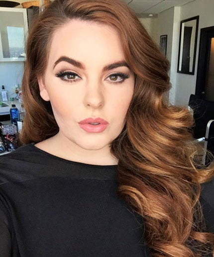 Wedding Hairstyles For Fat Faces: Size 22 Model Tess Holiday Plus Size Contract