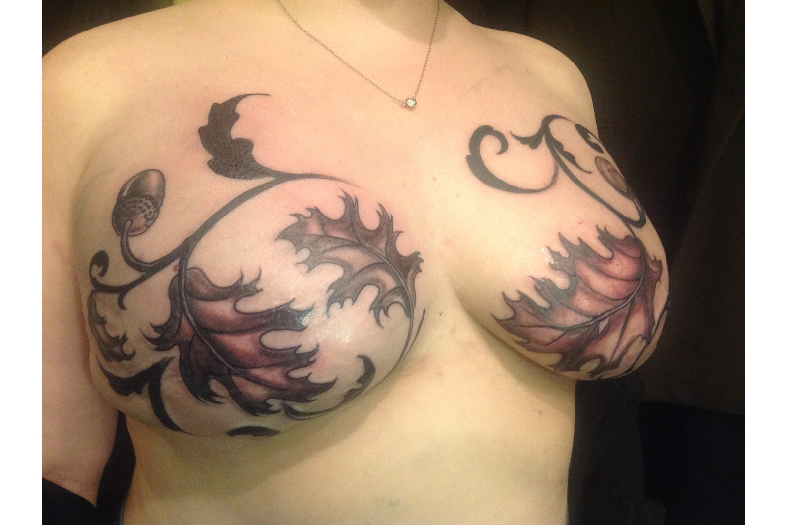 Post mastectomy breast cancer tattoos for Female nipple tattoos