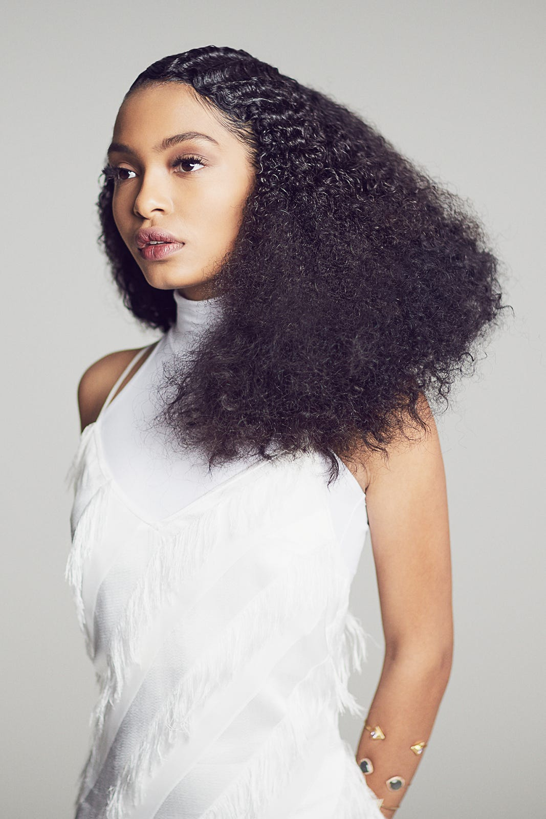Yara Shahidi Natural Hair No Heat Curls Stylist Look
