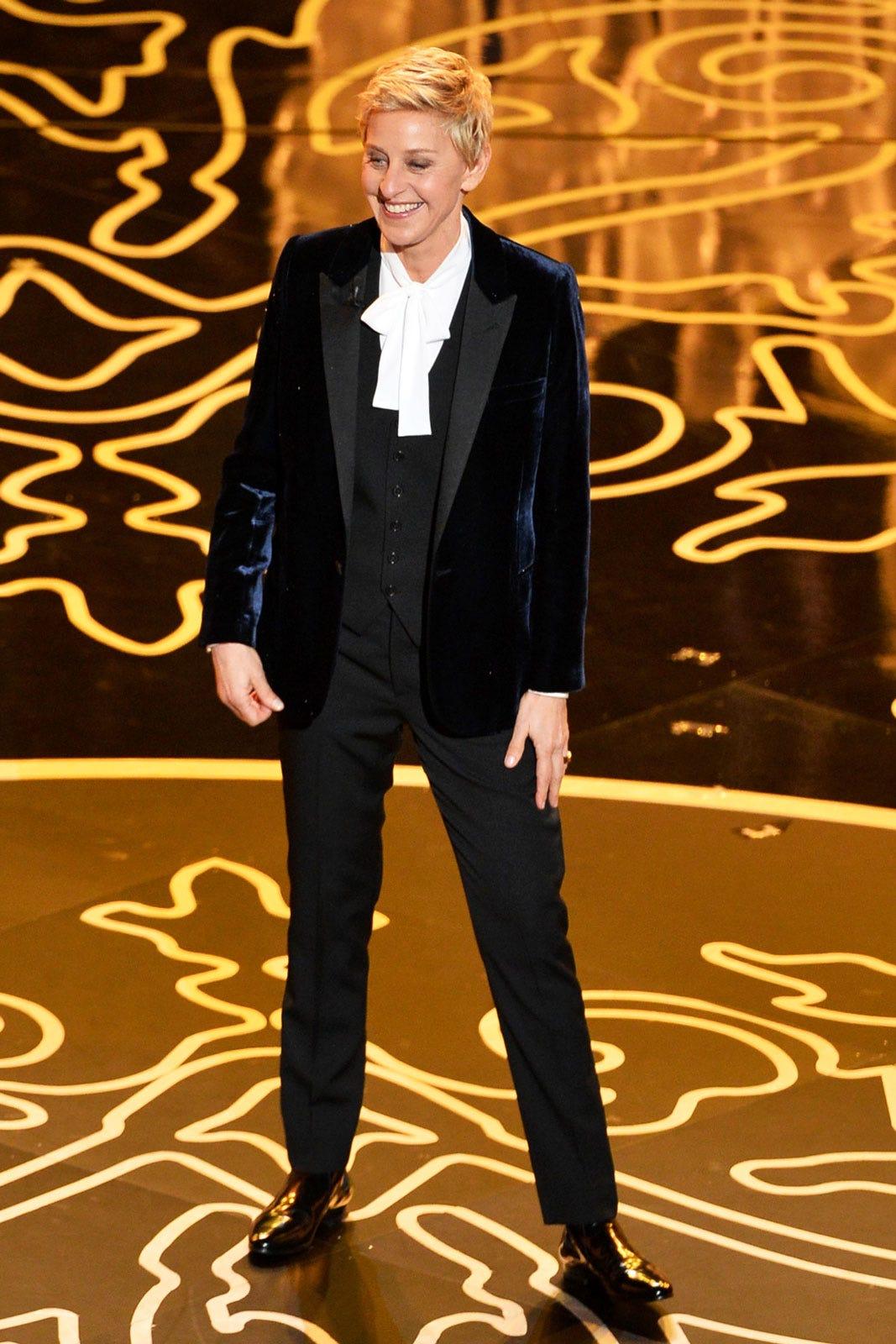 Ellen Degeneres Oscars Tuxedos Womens Pantsuits