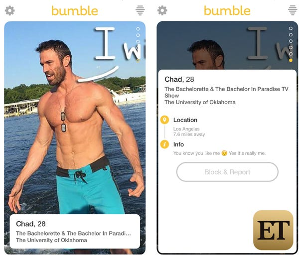 popular female dating profiles Bumble has changed the  we're leveling the playing field and changing the dynamics of dating  look for the blue check mark on other users' profiles find .