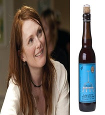 "Julianne Moore We hope Moore regales us with tales of working with Tom Ford, and modeling alongside Beyoncé.  Our pro says: ""Russian River Supplication. I would fly to Santa Rosa to buy this beer. It would be hard to share, but for Julianne Moore....maybe.""Photo: Courtesy of Focus Features and Russian River Brewing Company."