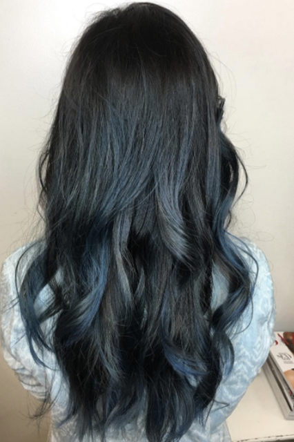 Light Blue Color Denim Hair Trend Photos