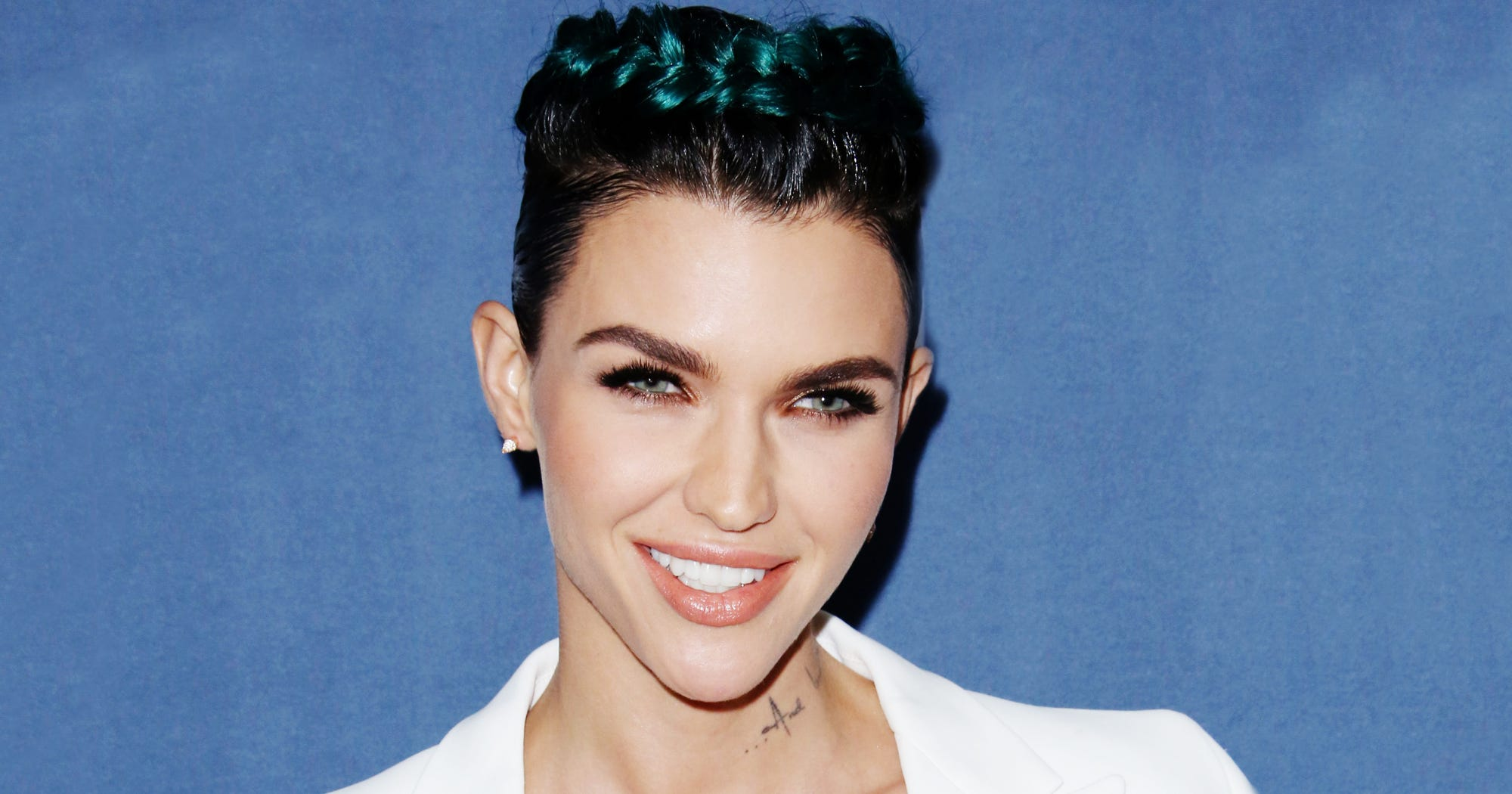 Ruby Rose Celebrity Hair Changes Really: Rainbow Bright Twists