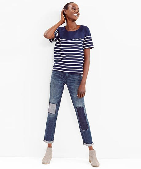 Patchwork jeans trend fall