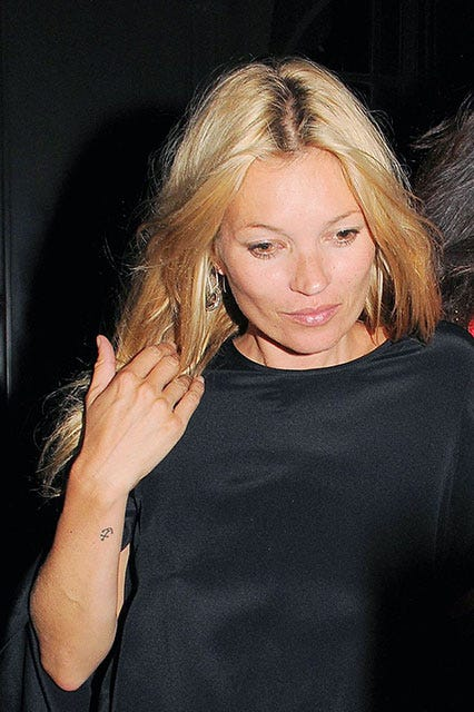 Celebrity anchor tattoos popular ink designs for Kate moss tattoo