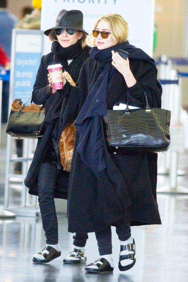 Mary Kate Ashley Olsen Socks Sandals Fashion Trends