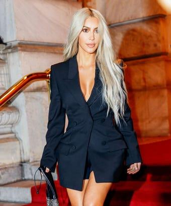 Kim Kardashian West Blonde Hair Beauty Routine Makeup