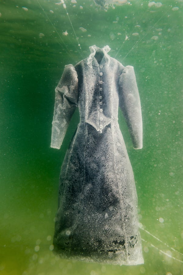 Underwater Dress Dead Sea Salt London Art Exhibition