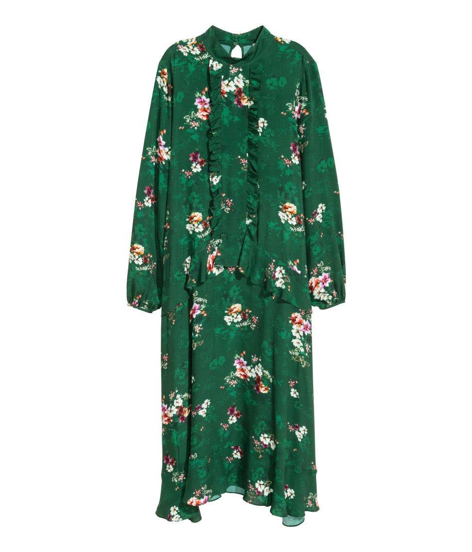 jacquard-patterned dress #9