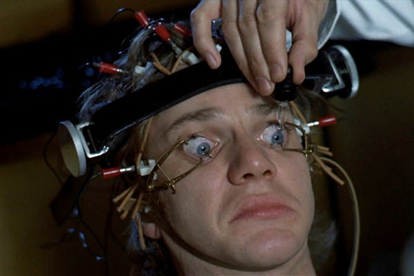 a description of the ludovico technique in a clockwork orange Start studying clockwork orange learn in depth description of the ludovico technique order to create a society in which youth consists of many clockwork.