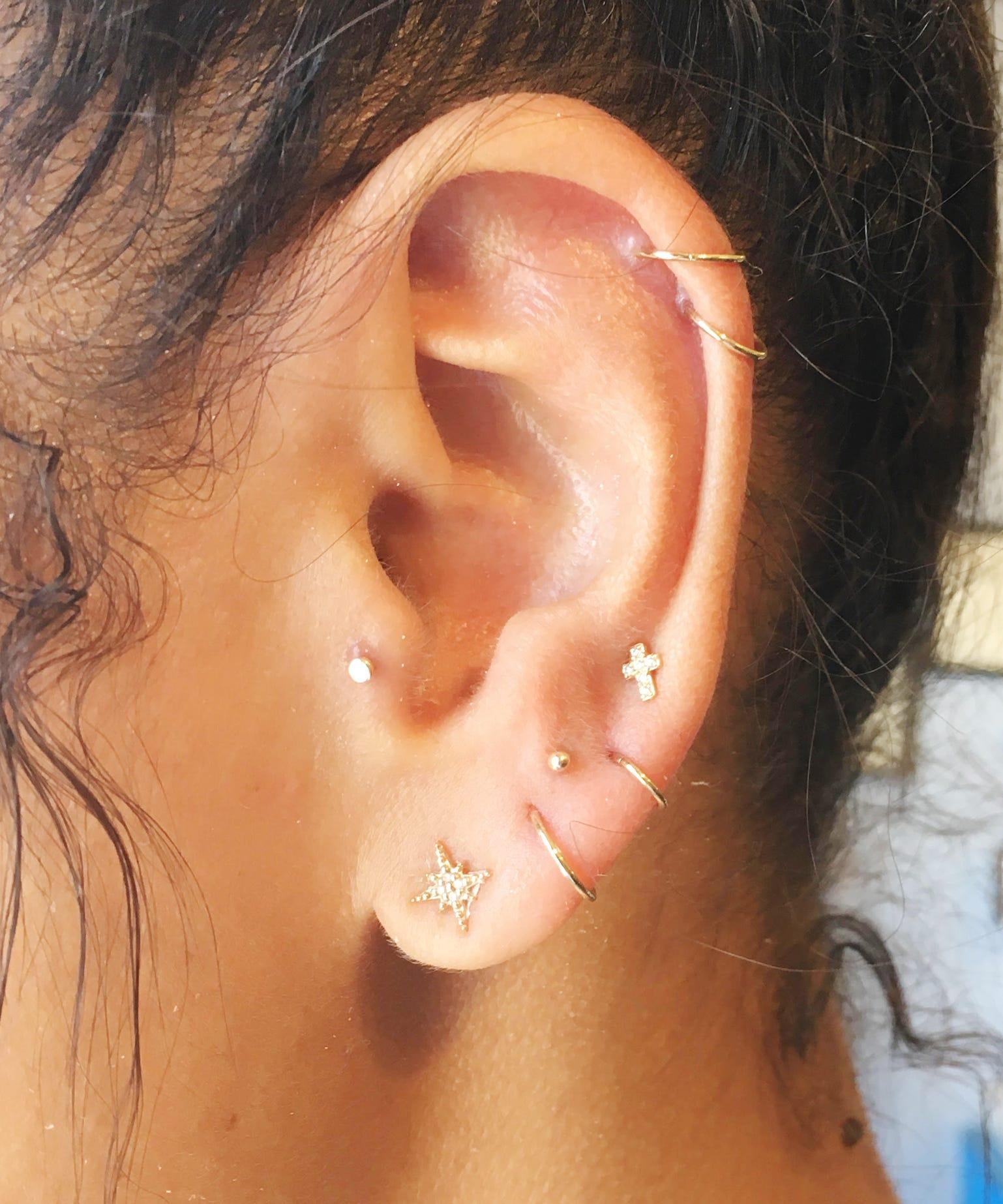 Constellations Ear Piercing Star Jewelry Trend Ear Piercings