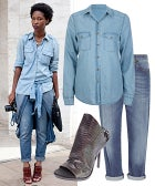 Perfect Outfit: A Polished, Piled-On Denim Ensemble