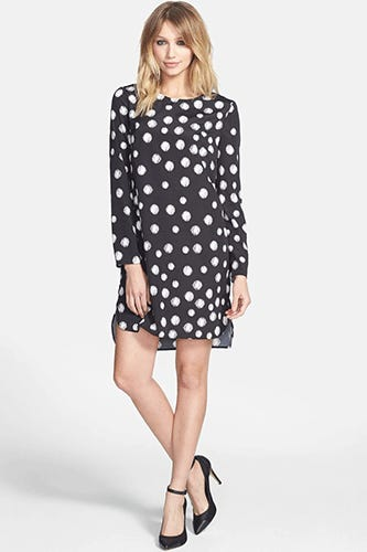Wayf-Long-Sleeve-Crepe-Shift-Dress-$59
