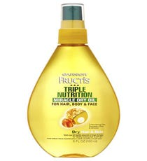 We could go on for hours about how this product smoothes our split ends and hydrates our parched skin, but the name speaks for itself: It really is quite the miracle. And, priced at just five bucks, it's the ultimate beauty bargain.      Garnier Fructis Triple Nutrition Miracle Dry Oil, $4.97, a