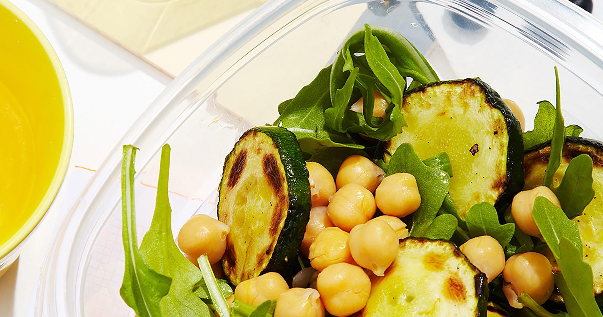 Chickpea Bowl Zucchini Toast Recipe