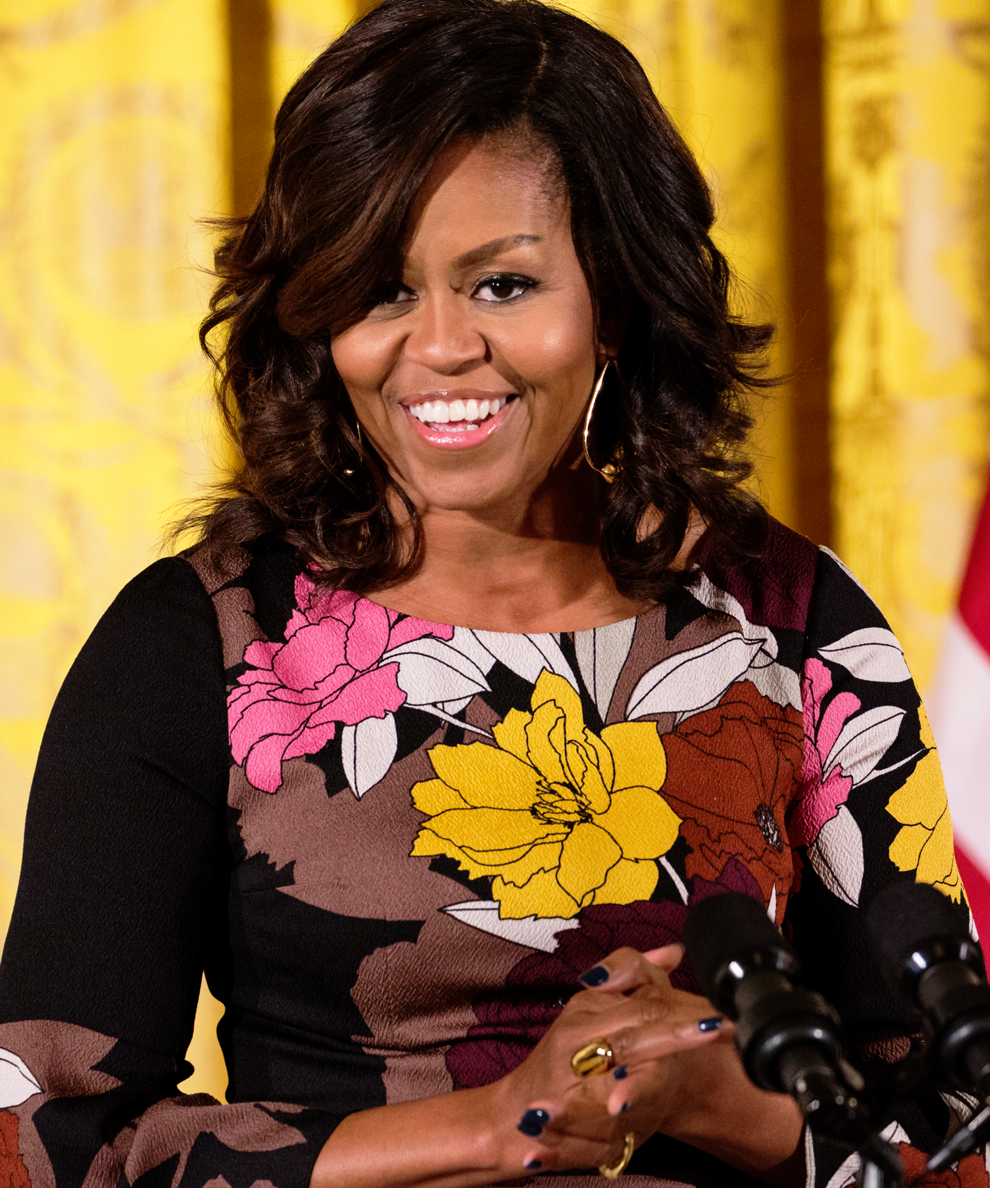 michelle obama natural hair curls meaning johnny wright
