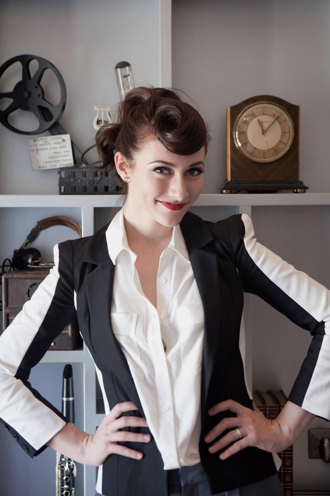 karmin styleamy heidemann models her retrobabe style and