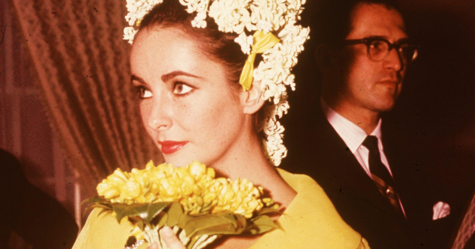 Elizabeth taylor birthday wedding dresses