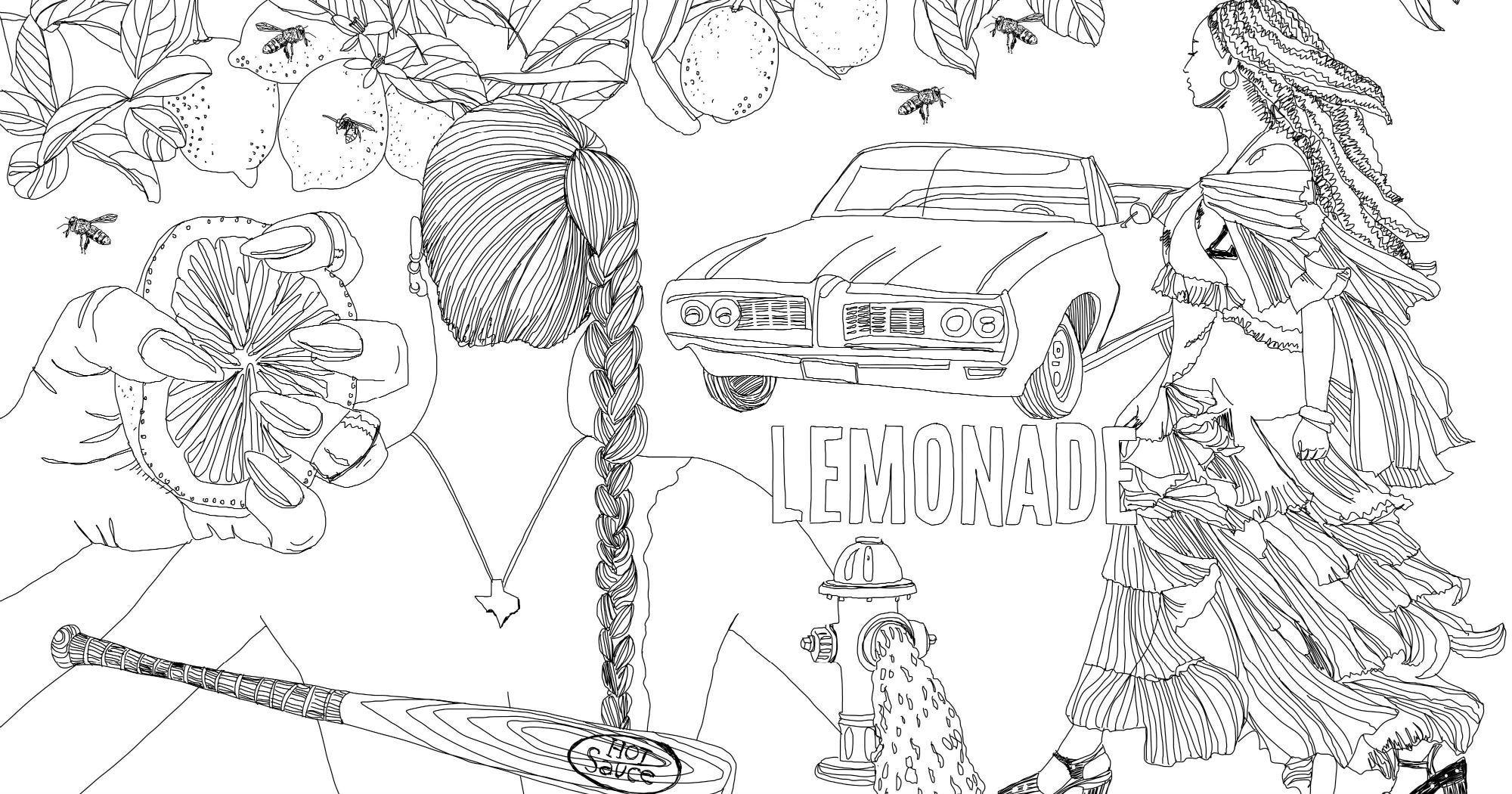 Beyonce lemonade coloring book for Lemonade coloring page