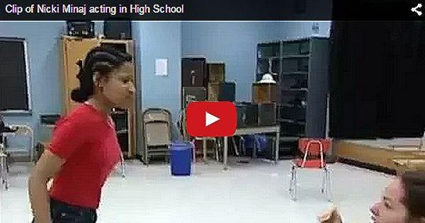 Nicki Minaj High School Acting Video