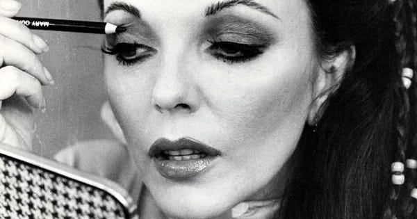 joan collins makeup tutorial