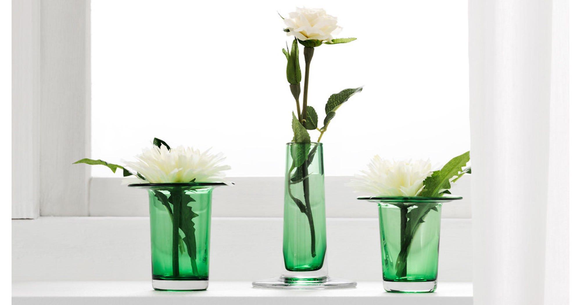 Vase Transparent Ikea Ikea Smycka Artificial Flower The