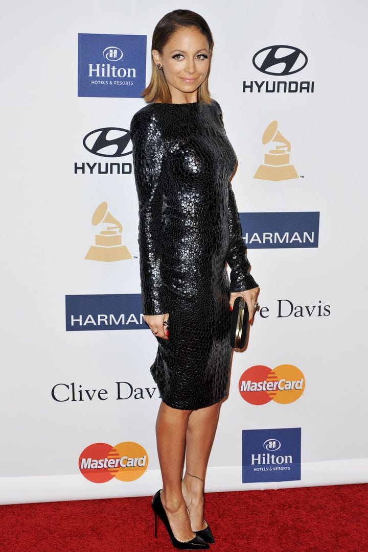 Nicole Richie Fashion Trends Long Sleeved Dresses