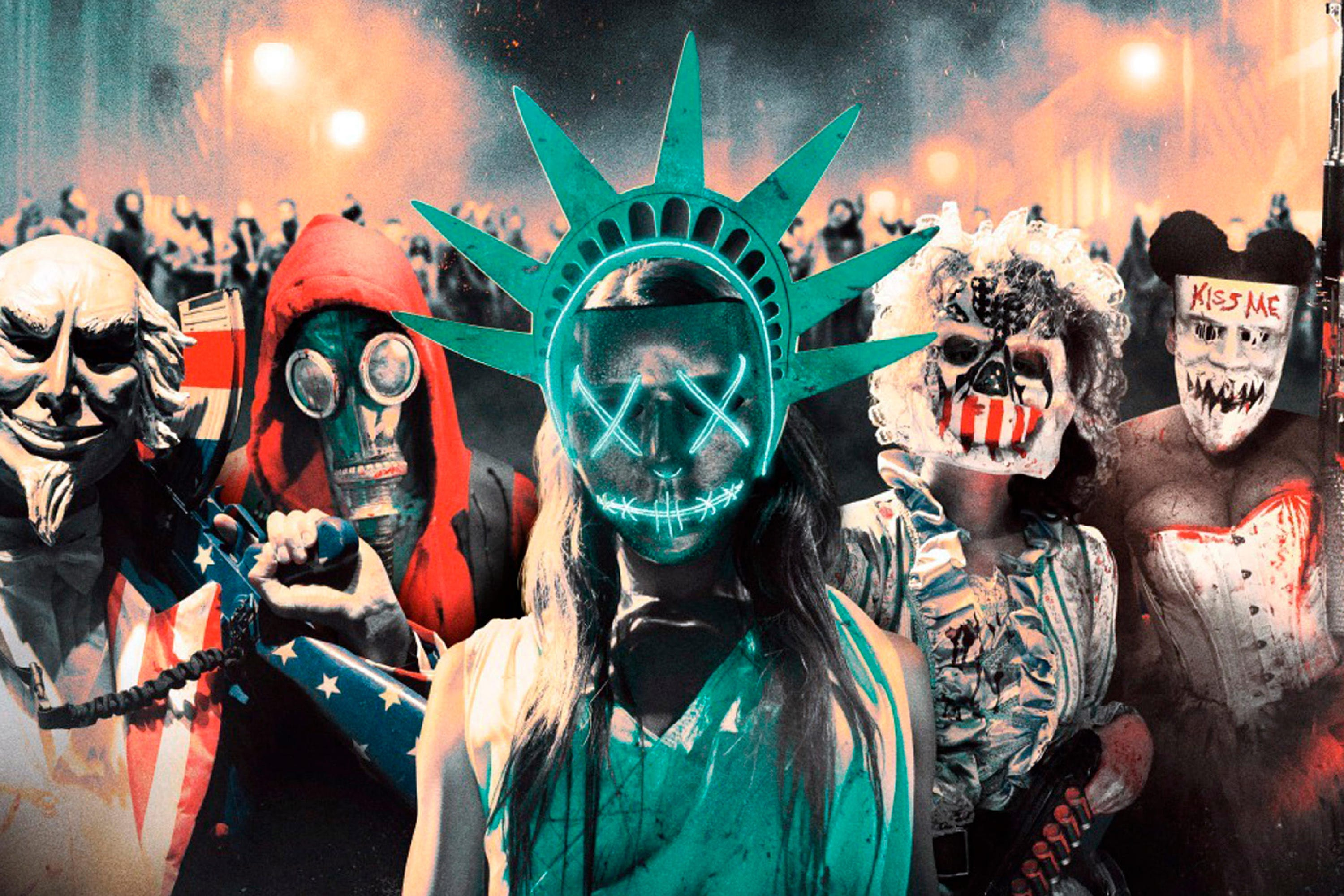 the purge halloween costume ideas- candy girl, masks