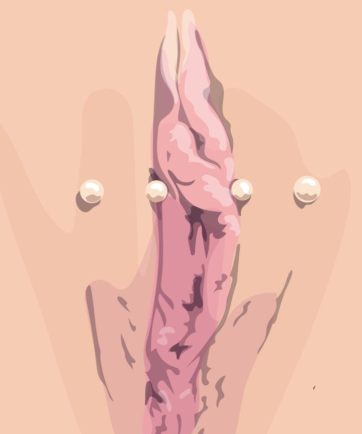 Periced womens vaginal lips sexy boys