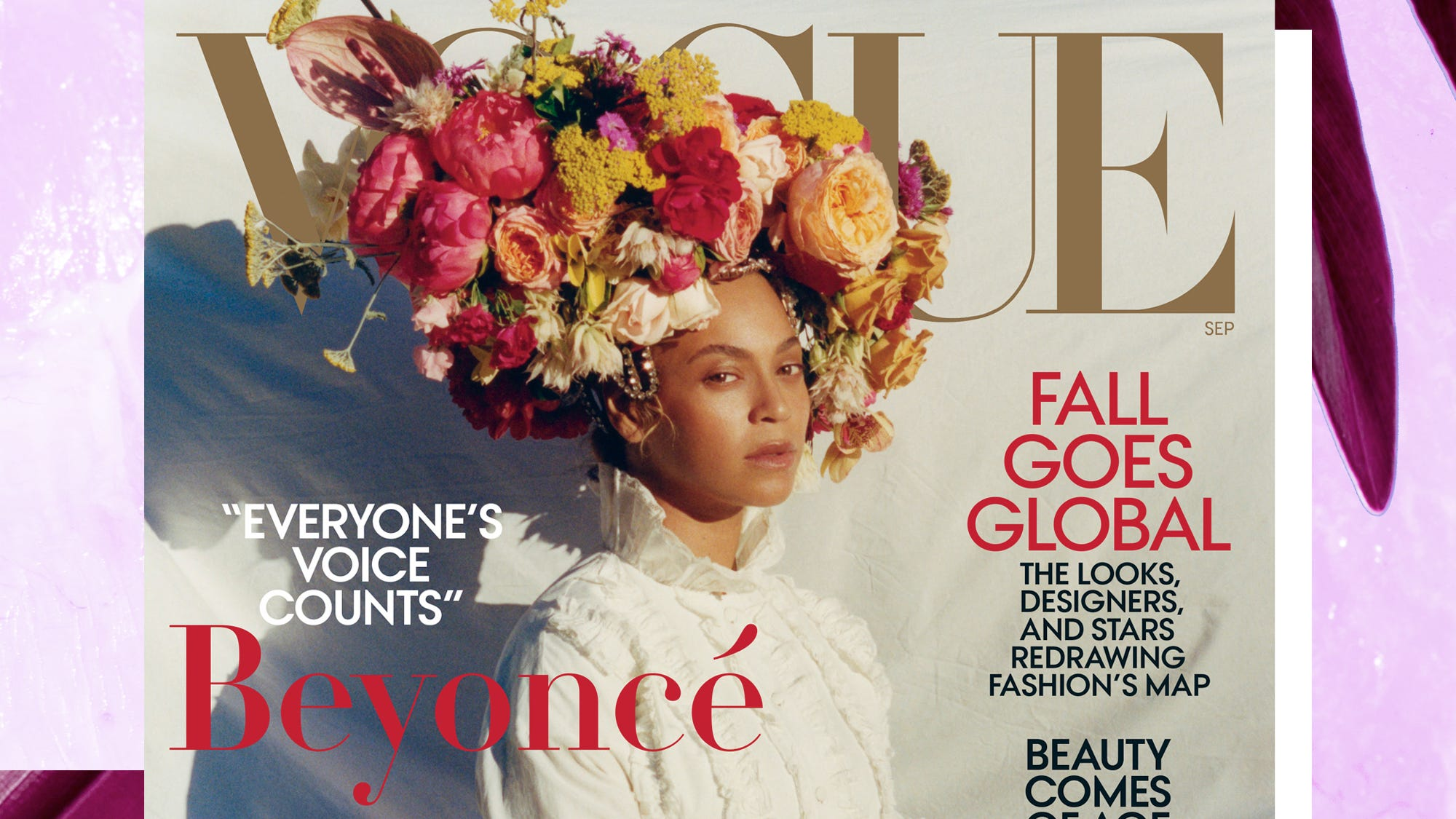 Beyonce stylist on her real hair flower crown on vogue izmirmasajfo