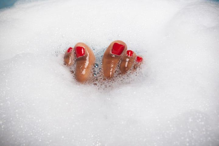 Sensitive feet after orgasm