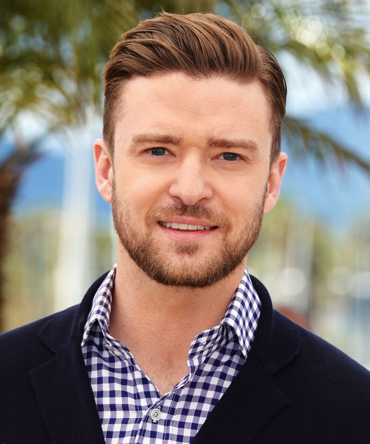 Justin Timberlake Hair Style Transformation Throwback