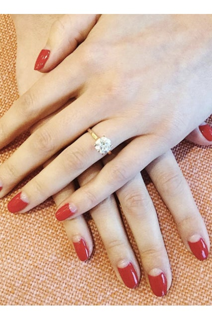 Los Angeles Nail Trend Reverse French Tips Manicure