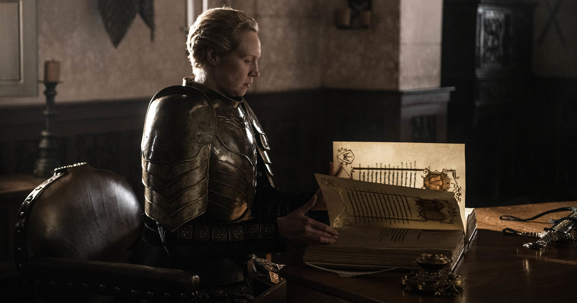 Gwendoline Christie Defends What Brienne Wrote About Jaime In The Game Of Thrones Finale