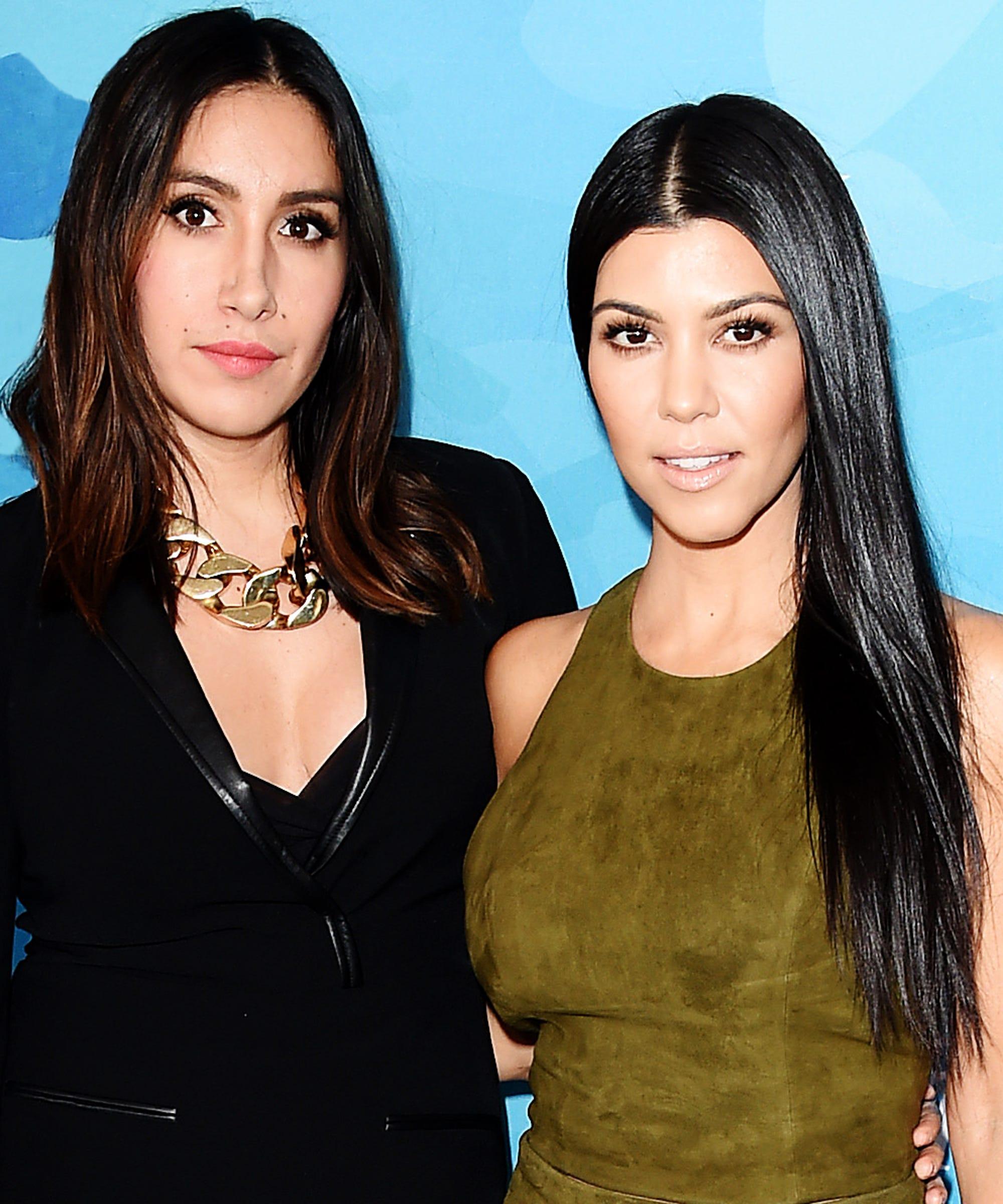Kourtney Kardashian Low Bun Easy Hairstyle Trend