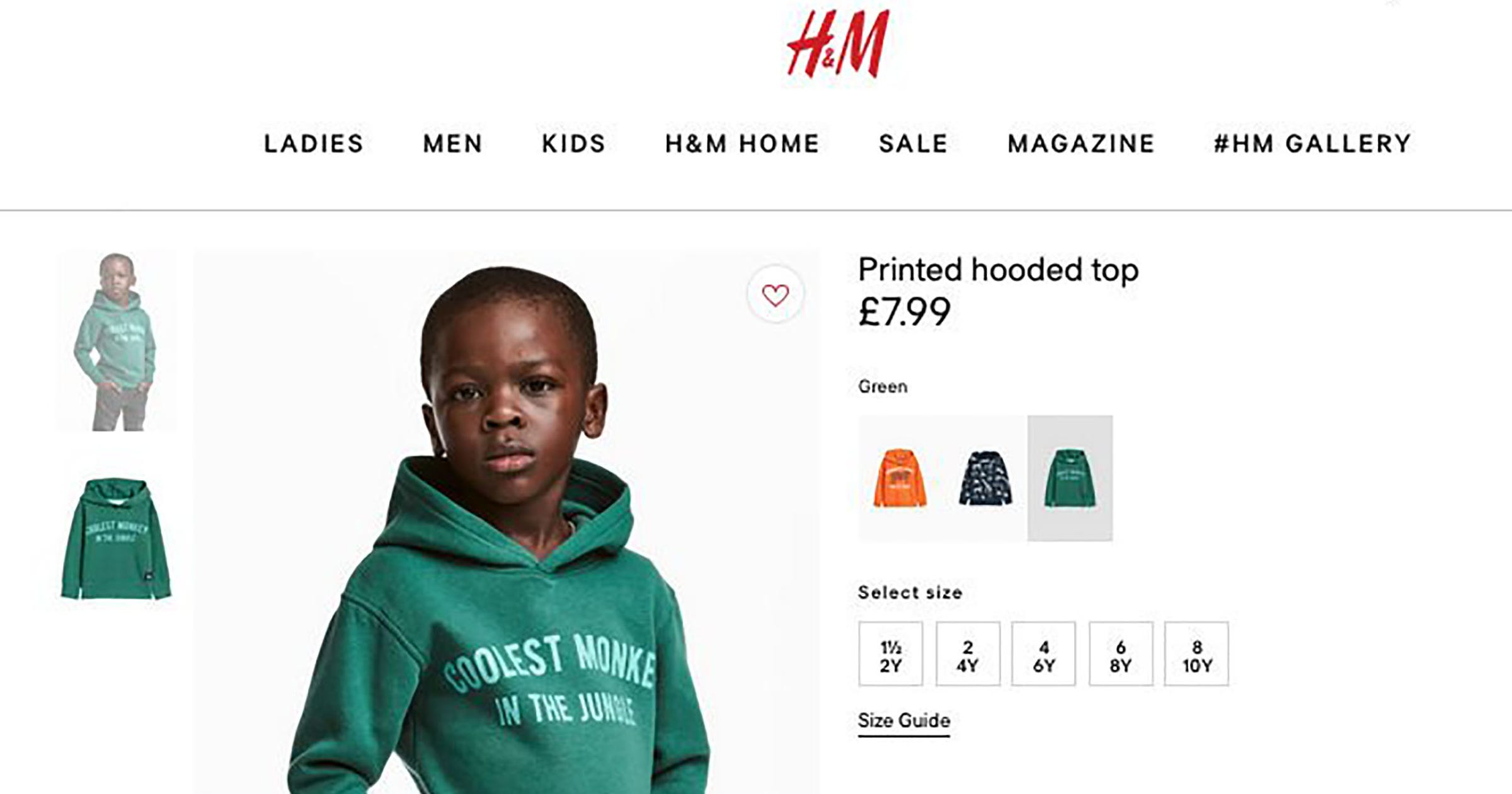 28bd788cfe H&M Racist Monkey Sweatshirt Controversy 1 Year Later