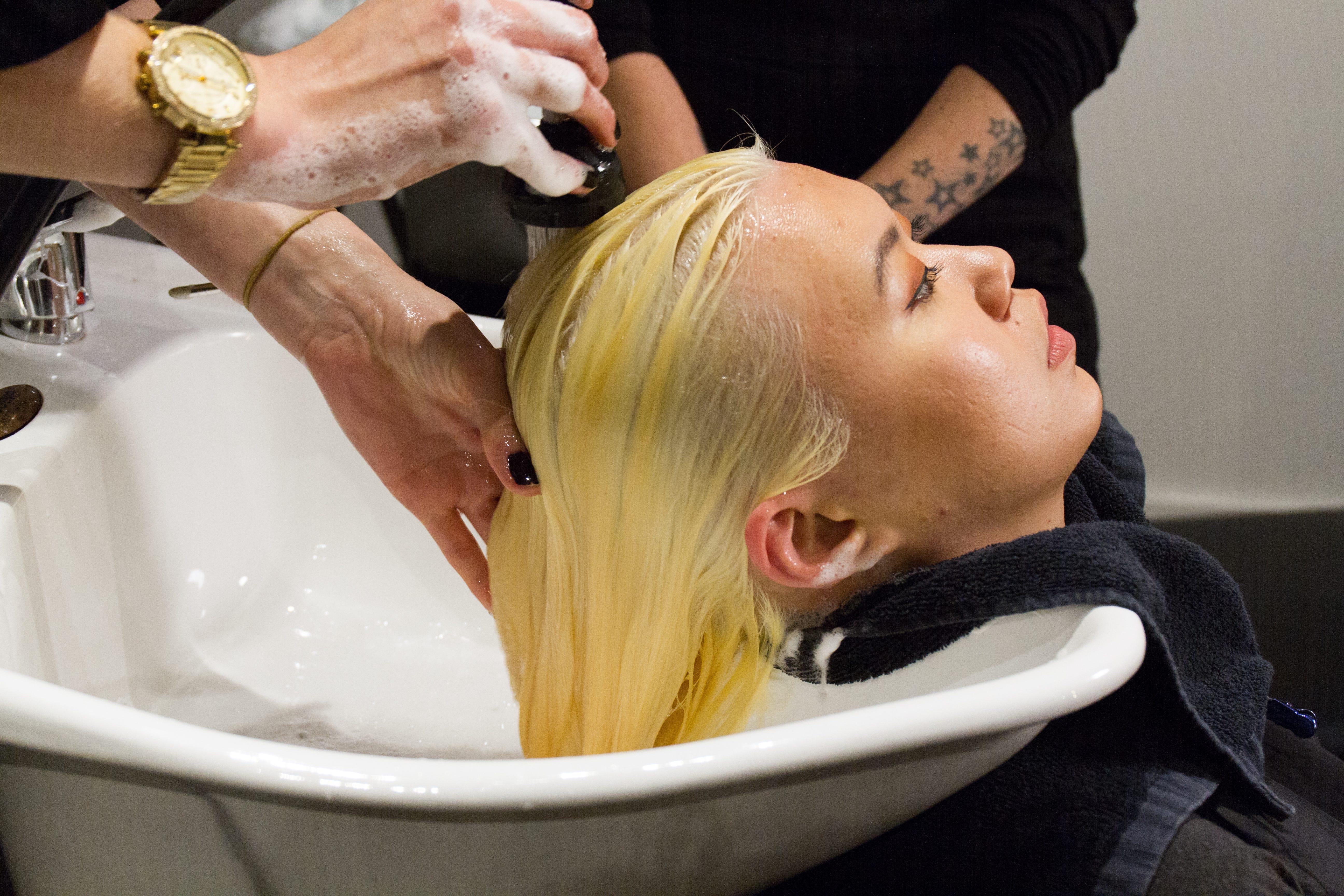 Pink Hair Dye Transformation Best Shampoo Conditioner