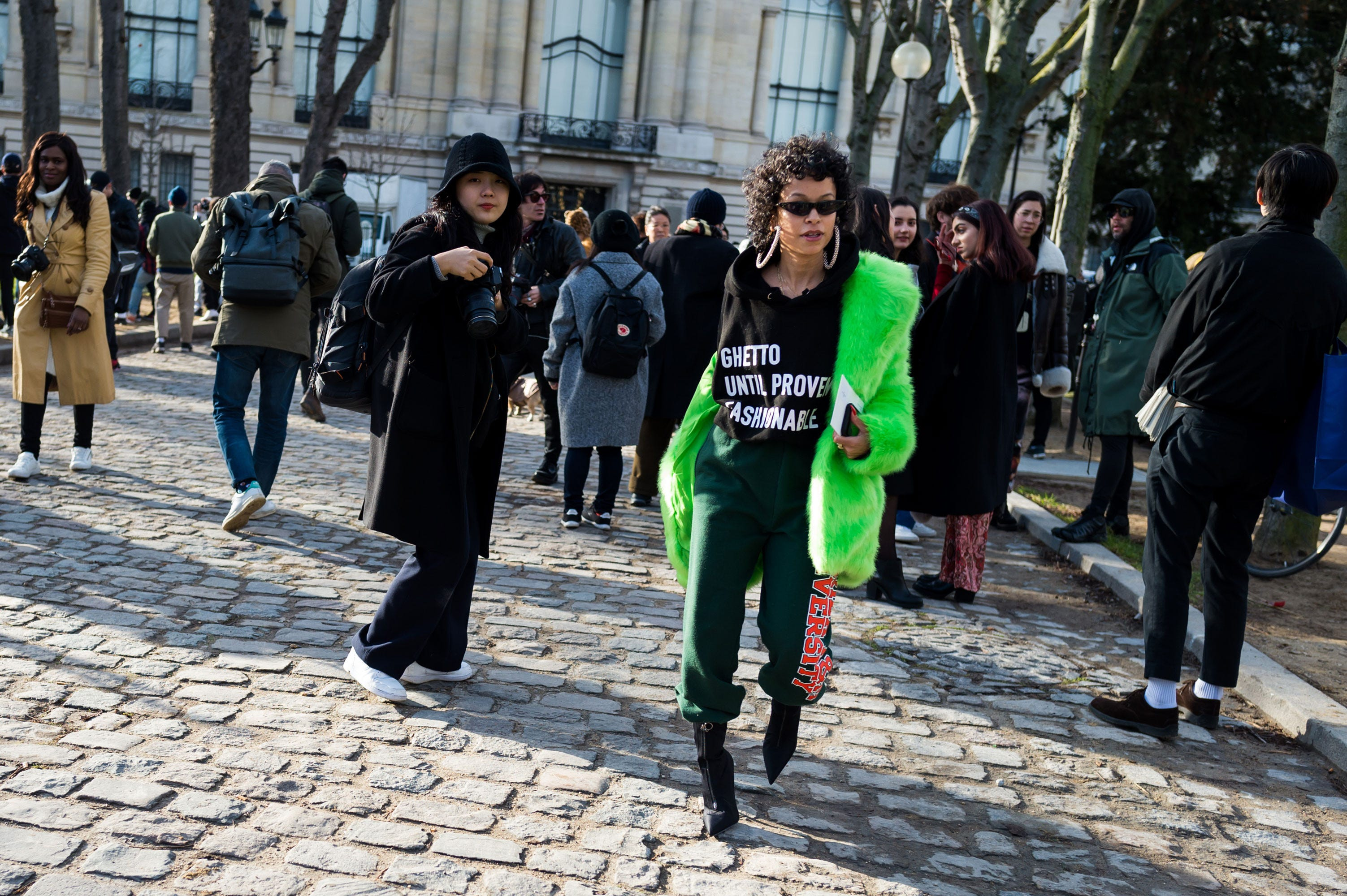 ghetto until proven fashionable sweatshirt black vogue