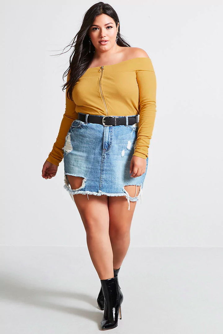 Denim dress plus size uk crop